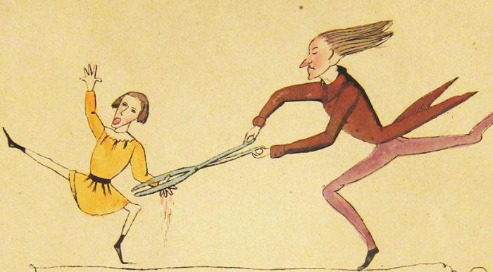 Нападение портного с ножницами. | Фото: atlasobscura.com.