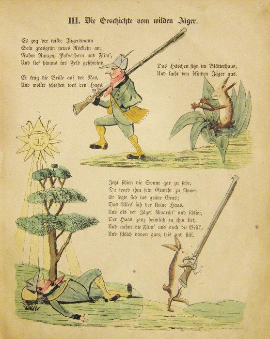 Забавная история про заснувшего охотника и храброго зайца. | Фото: atlasobscura.com.