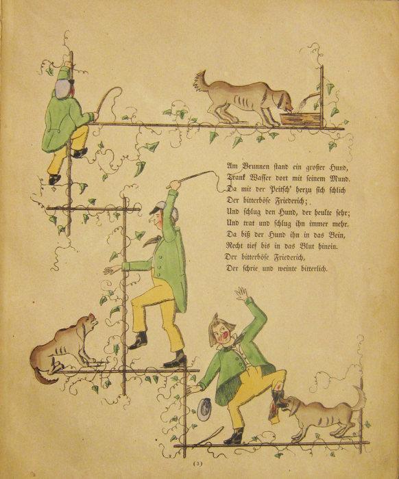 Жестокий Фридрих избивает собаку. | Фото: atlasobscura.com.