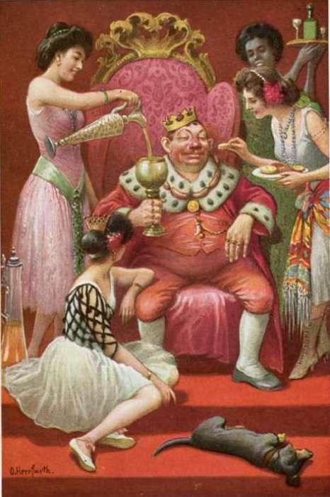 Мечта европейского обывателя. Открытка кон. XIX века. | Фото: manyinterestingfacts.wordpress.com.
