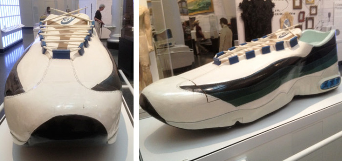 «Кроссовки Nike» - работа гробовщика Паа Джо на выставке в Нью-Йорке. | Фото: artsology.com.