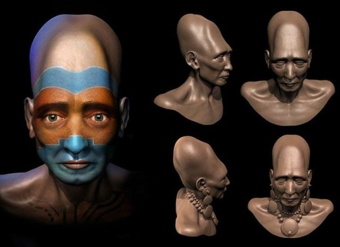 Реконструкция внешности мужчины культуры Паракас. | Фото: pinterest.com.