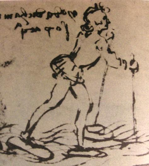 Конструкция да Винчи для прогулок по воде. | Фото: commons.wikimedia.org.