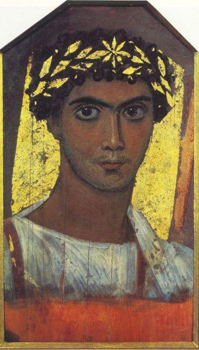 Погребальный портрет юноши. Египет, II век н.э.   Фото: ru.wikipedia.org.