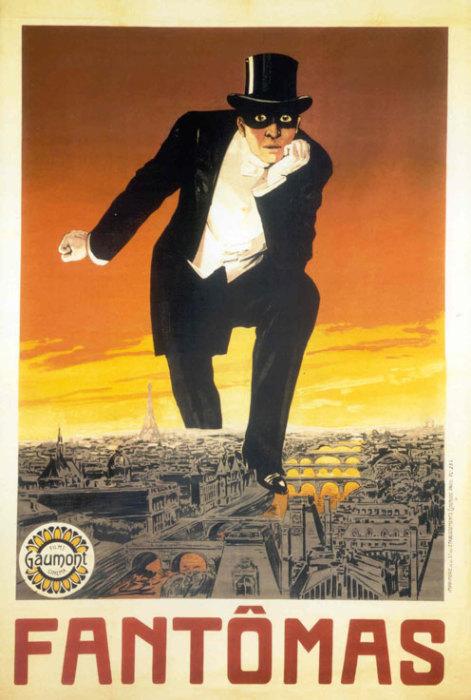 Плакат для первого фильма про Фантомаса был выпущен киностудией Gaumont. | Фото: kinopoisk.ru.