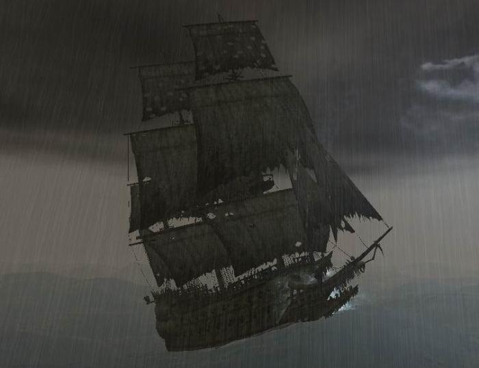 Корабль-призрак «Летучий голландец» в серии компьютерных игр «Корсары 3». | Фото: ru.corsairs.wikia.com.