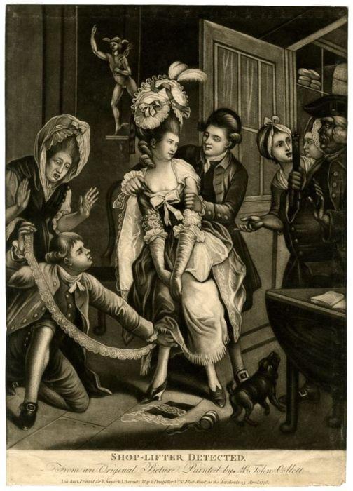 Задержание женщины-воришки, 1787 год. | Фото: tanjand.livejournal.com.