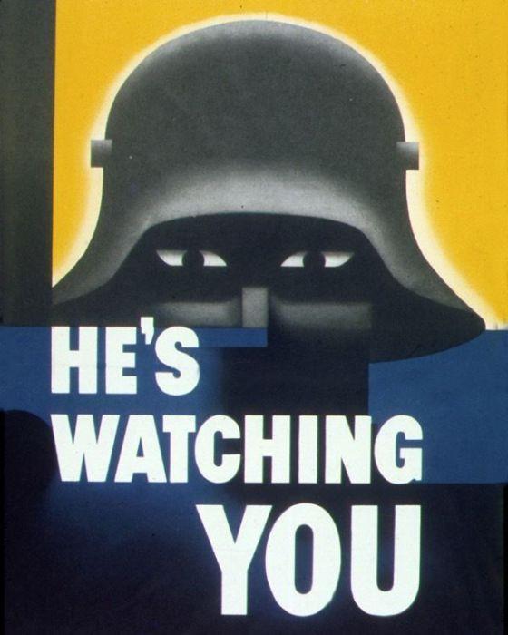 Антинемецкий военный плакат. США, 1942 год.   Фото: pinterest.com.