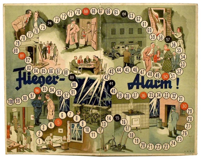 Настольная игра Flieger Alarm!(«Воздушная тревога!»), 1942 год. Фото: atlas-repropaperwork.com.