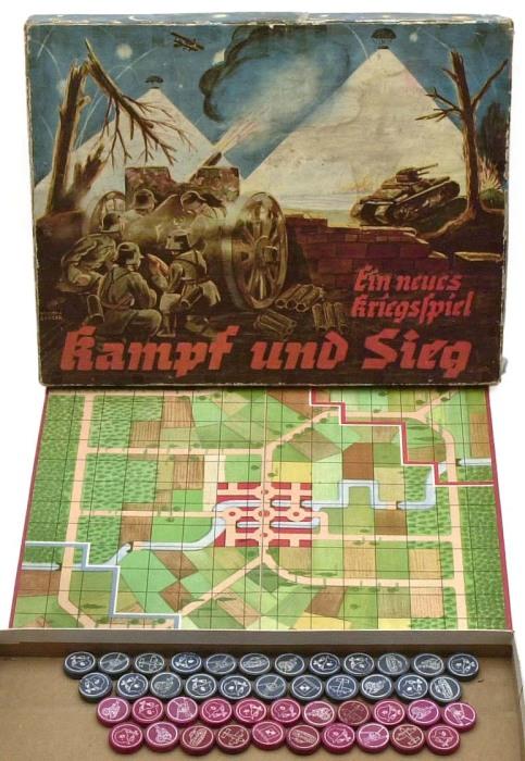Настольная игра Kampf und Sieg («Сражение и победа»), 1941 год. | Фото: atlas-repropaperwork.com.