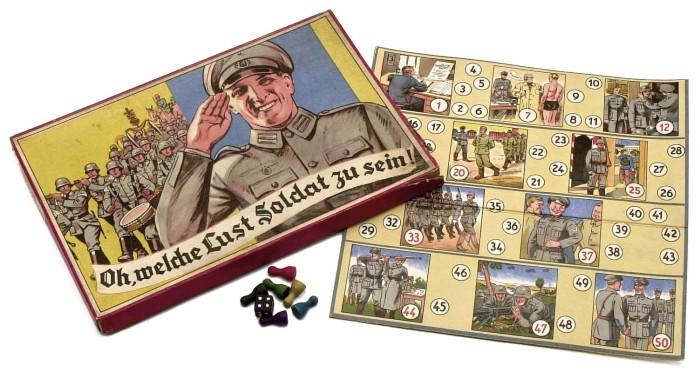 Немецкая пропаганда – детская игра Oh, welche Lust Soldat zu sein («Ох, как весело быть солдатом»), 1937 год. | Фото: atlas-repropaperwork.com.