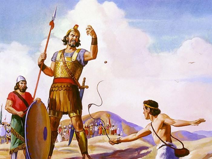 Знаменитое библейское сражение Давида и Голиафа. | Фото: historiosophy.ru.