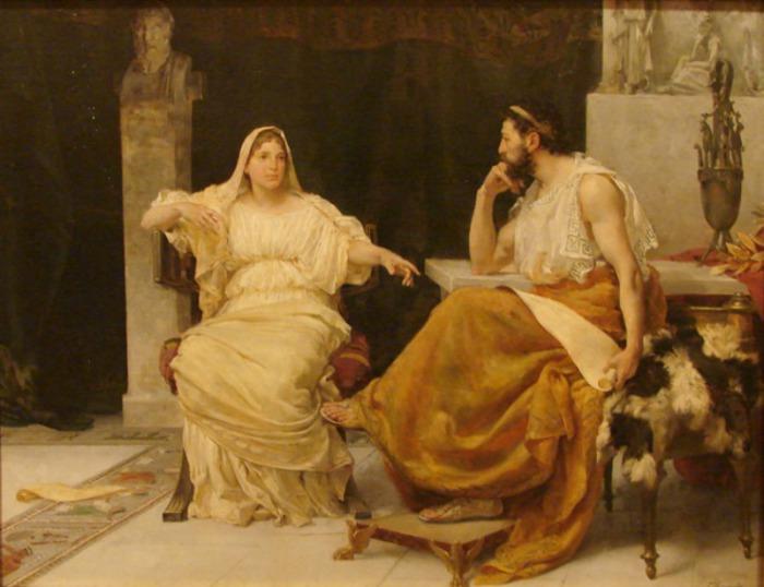 Перикл и его жена – гетера Аспасия. | Фото: lifo.gr.