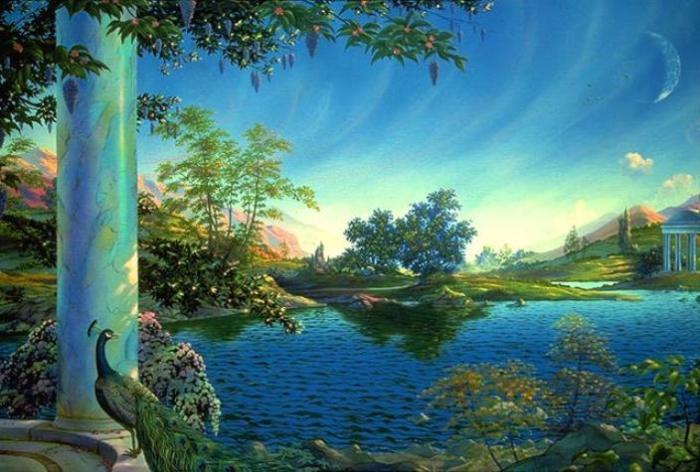 Элизий – рай в Загробном мире, как его представляли древние греки. Jeffrey K. Bedrick, 1987 год. | Фото: iasos.com.