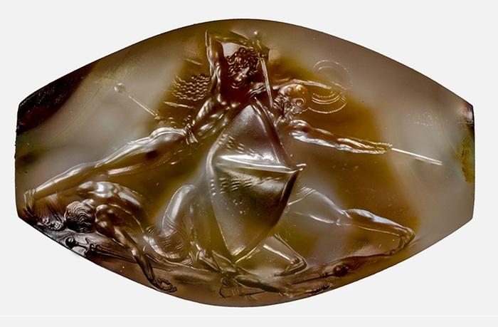 Древнегреческая гемма, 1500 лет до н.э. | Фото: pikabu.ru.