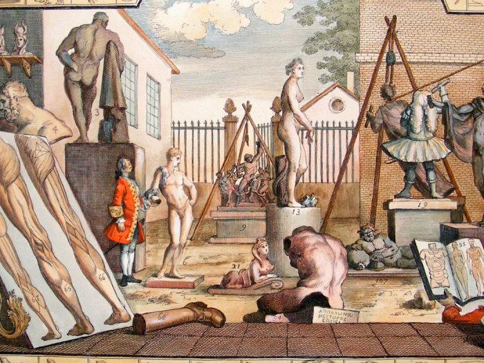 Иллюстрация из «Анализа красоты», раскрашенная вручную. | Фото: albion-prints.com.