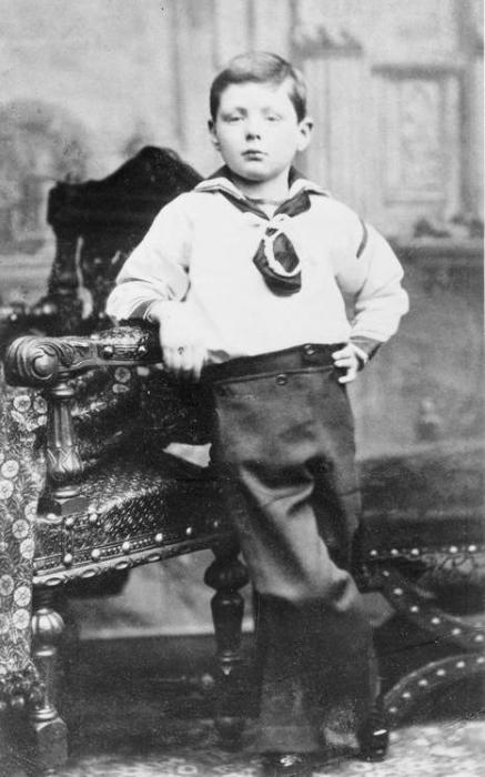 Семилетний Уинстон. | Фото: iwm.org.uk.
