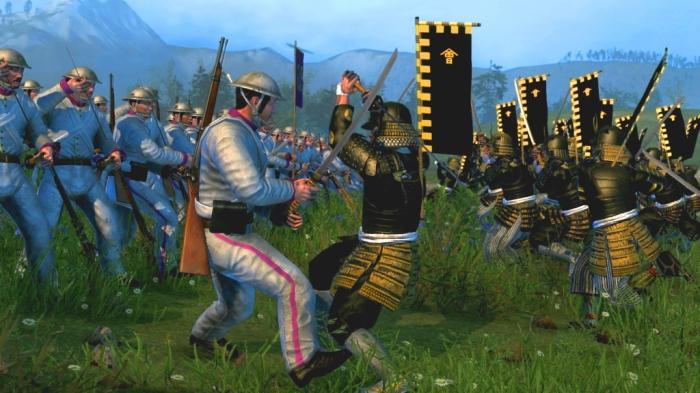 Сражение императорских войск и самураев. Скриншот из игры Total War: Shogun 2 - Fall Of The Samurai. | Фото: gamona.de.