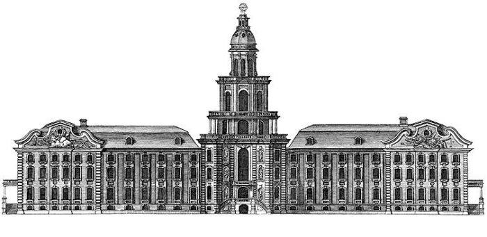 Кунсткамера на гравюре 1741 года. | Фото: en.wikipedia.org.