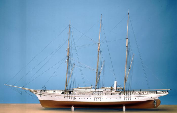 Модель яхты «Княгиня Алиса». | Фото: collections.rmg.co.uk.