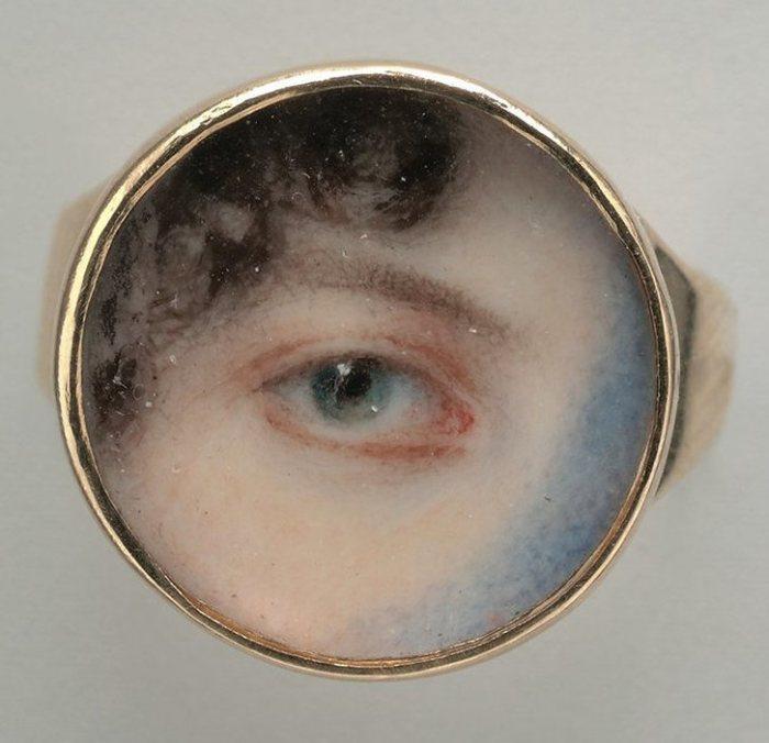 Глаз Марии Майлс Хейвард. Эдвард Грин, 1802 год.   Фото: metmuseum.org.