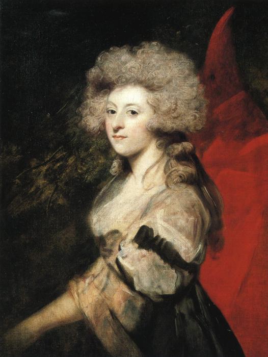 Портрет возлюбленной принца Уэльского Мэри-Анны Фицгерберт. Джошуа Рейнольдс, 1788 год. | Фото: en.wikipedia.org.
