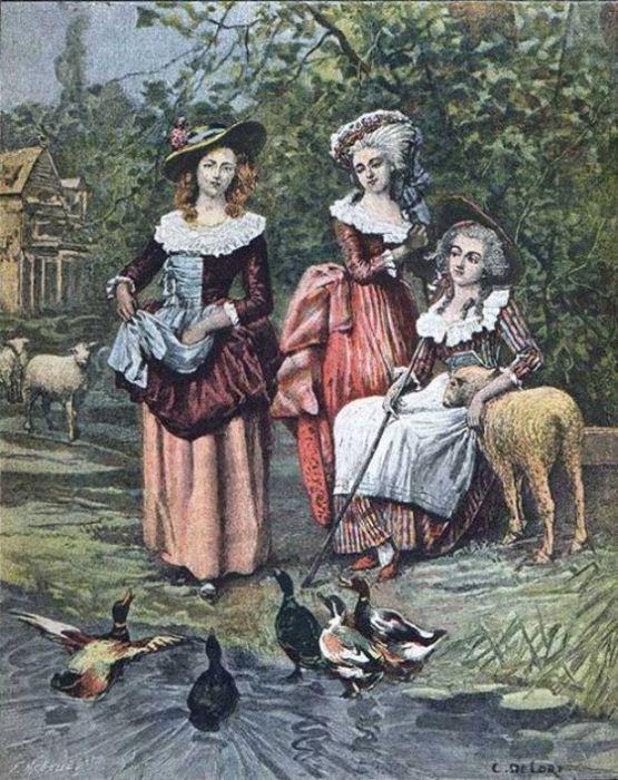 Мария-Антуанетта, принцесса де Ламбаль и герцогиня де Полиньяк. | Фото: pinterest.com.