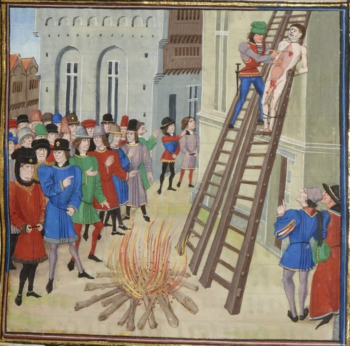 Казнь Хьюга Диспенсера, фаворита Эдуарда II. | Фото: 7kingdoms.ru.