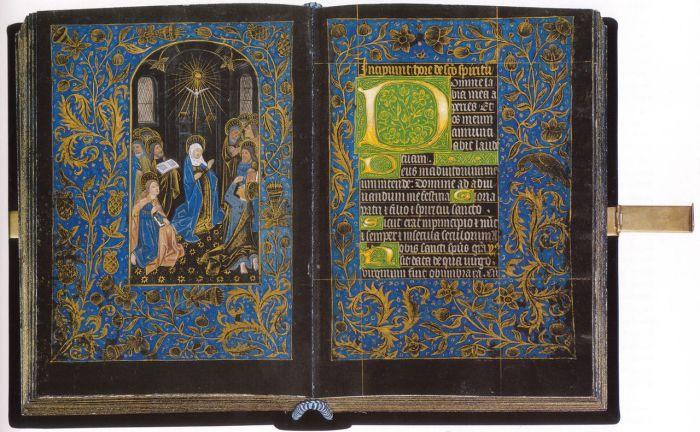 Разворот книги «Чёрный часослов». Фламандия, XV век. | Фото: ru.wikipedia.org.