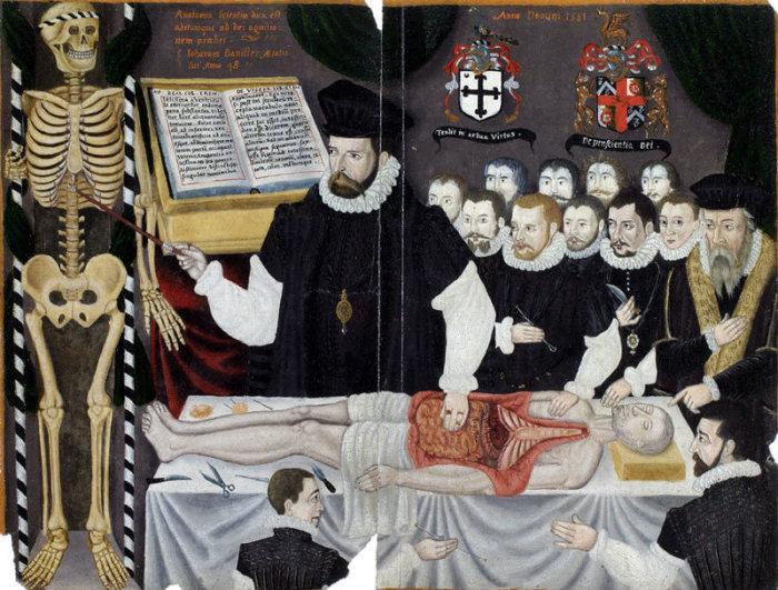 Лекция по анатомии в Лондоне. Джон Банистер, 1580 год. | Фото: commons.wikimedia.org.
