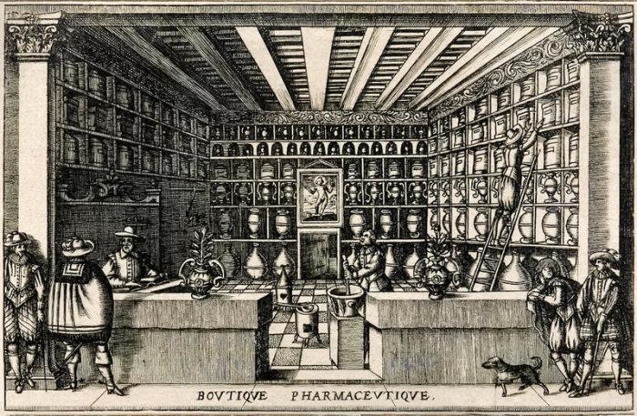 Французская аптека начала XVII века. | Фото: atlasobscura.com.