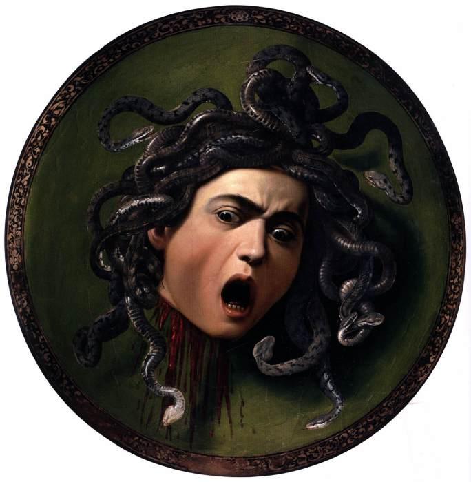 Медуза Горгона – древнегреческий «эталон» ужасов. Караваджо, 1598-1599. | Фото: wga.hu