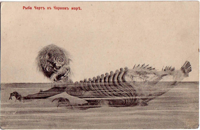 Дореволюционная российская открытка с изображением фиджийской русалки.