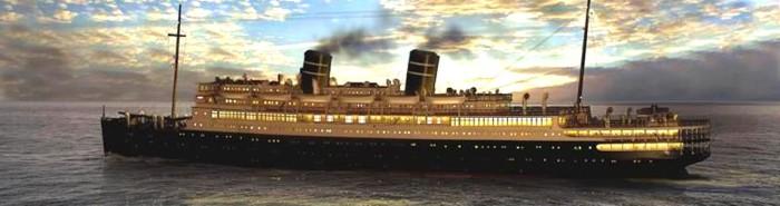 Современная реконструкция лайнера «Морро Касл». | Фото: cruiselinehistory.com.