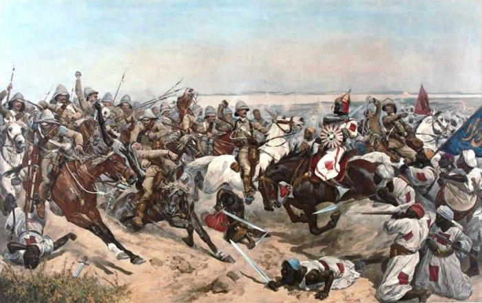 Знаменитая кавалерийская атака 21-го уланского полка в сражении при Омдурмане. | Фото: nam.ac.uk.