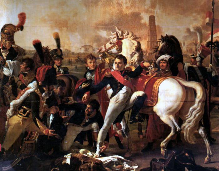Раненый Наполеон в битве при Регенсбурге. Пьер Готеро.   Фото: pro100-mica.livejournal.com.