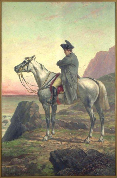 Портрет Наполеона на острове Святой Елены. Pichat Olivier. | Фото: themiscyra.wordpress.com.