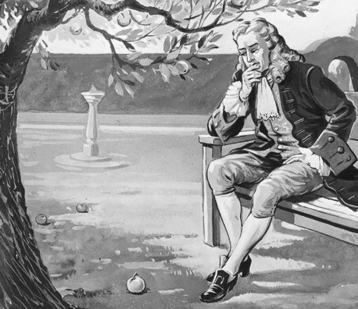 Исаак Ньютон и знаменитое яблоко. | Фото: republic.ru.