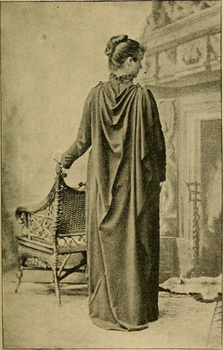 Пример рационального платья, которое не стесняет внутренние органы и соблюдает «законы здоровья, искусства и нравственности», 1893 год. | Фото: commons.wikimedia.org.