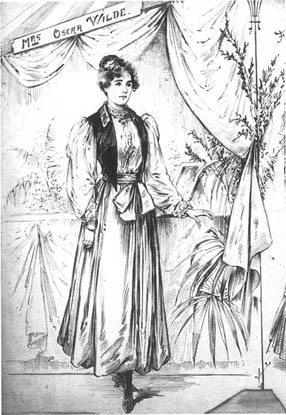 Констанц Уайльд в разделенной юбке. | Фото: commons.wikimedia.org.
