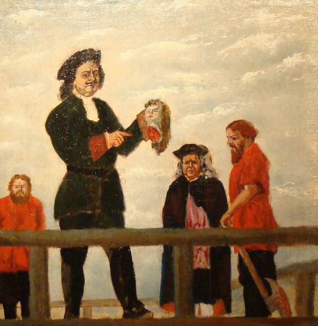 Петр I на казни своей любовницы Марии Гамильтон. | Фото: prof-eug.livejournal.com.
