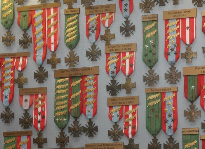 Награды за храбрость в Музее Иностранного легиона. | Фото: phaleristique.net.