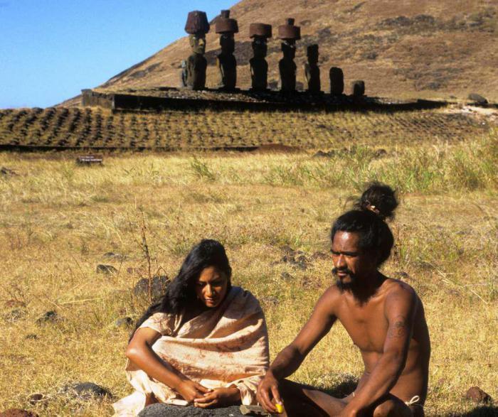 Мешканці острова Пасхи. | Фото: pinterest.com.