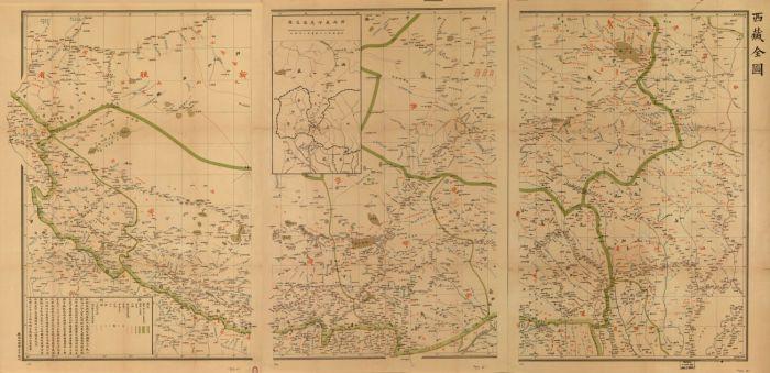 Карта Тибета, 1904 год. | Фото: loc.gov.