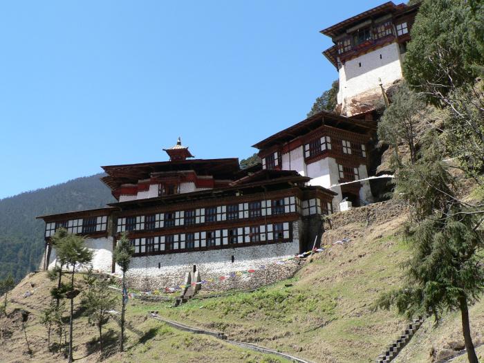 Монастырь Чагри, Бутан. | Фото: commons.wikimedia.org.