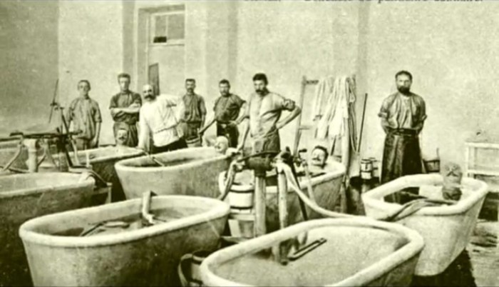 Грязевые ванны в Саках, XIX век. | Фото: pantikapei.ru.
