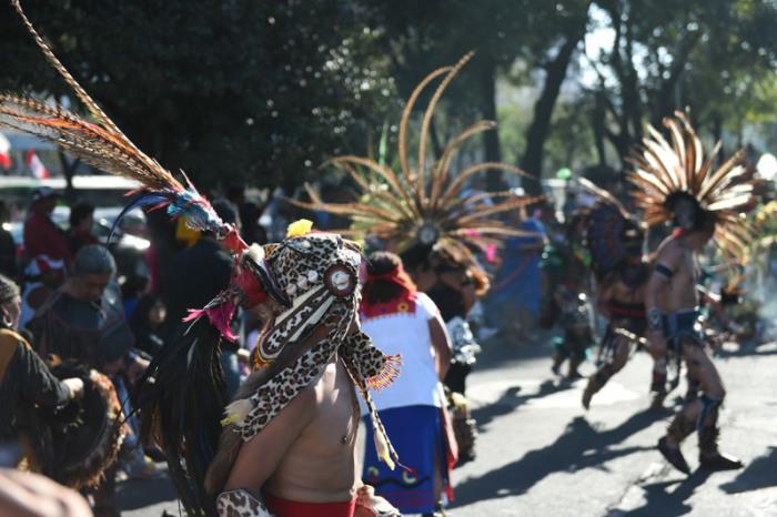 Индейские пляски на праздновании Дня Святого Иуды. | Фото: camara.cc.