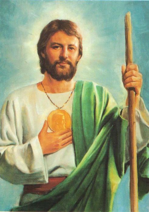 Изображение Святого Иуды Фаддея. | Фото: pinterest.com.