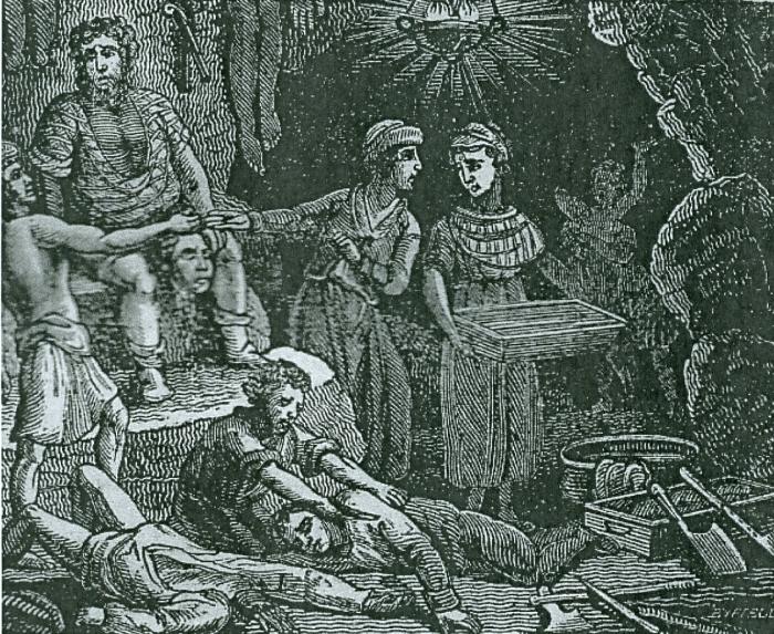 Кровавая кухня в пещере людоедов. Mary Byfield, 1825 год. | Фото: southayrshirehistory.wordpress.com.