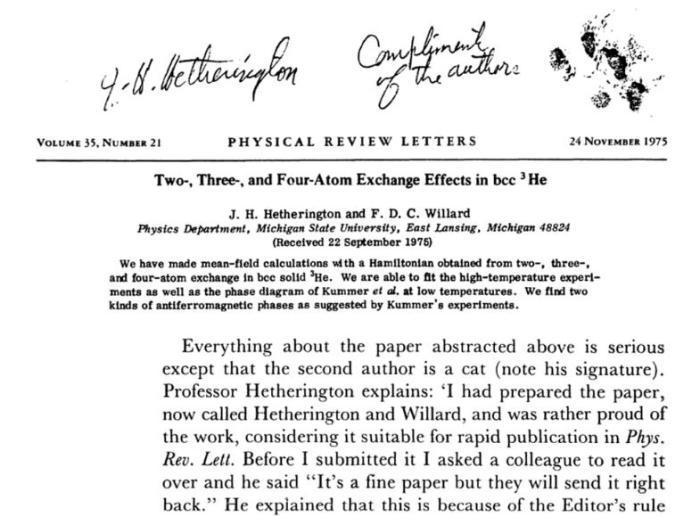 Статья за авторством профессора физики и его сиамского кота. | Фото: books.google.com.ua.
